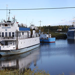 Cargo vessels at Hay River